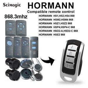 Image 2 - HORMANN HSM2 HSM4 868mhz remote control replacement 868.3mhz HORMANN gate garage door transmitter clone HORMANN remote garage