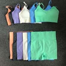 6 цветов спортивный костюм бесшовный комплект для йоги женская