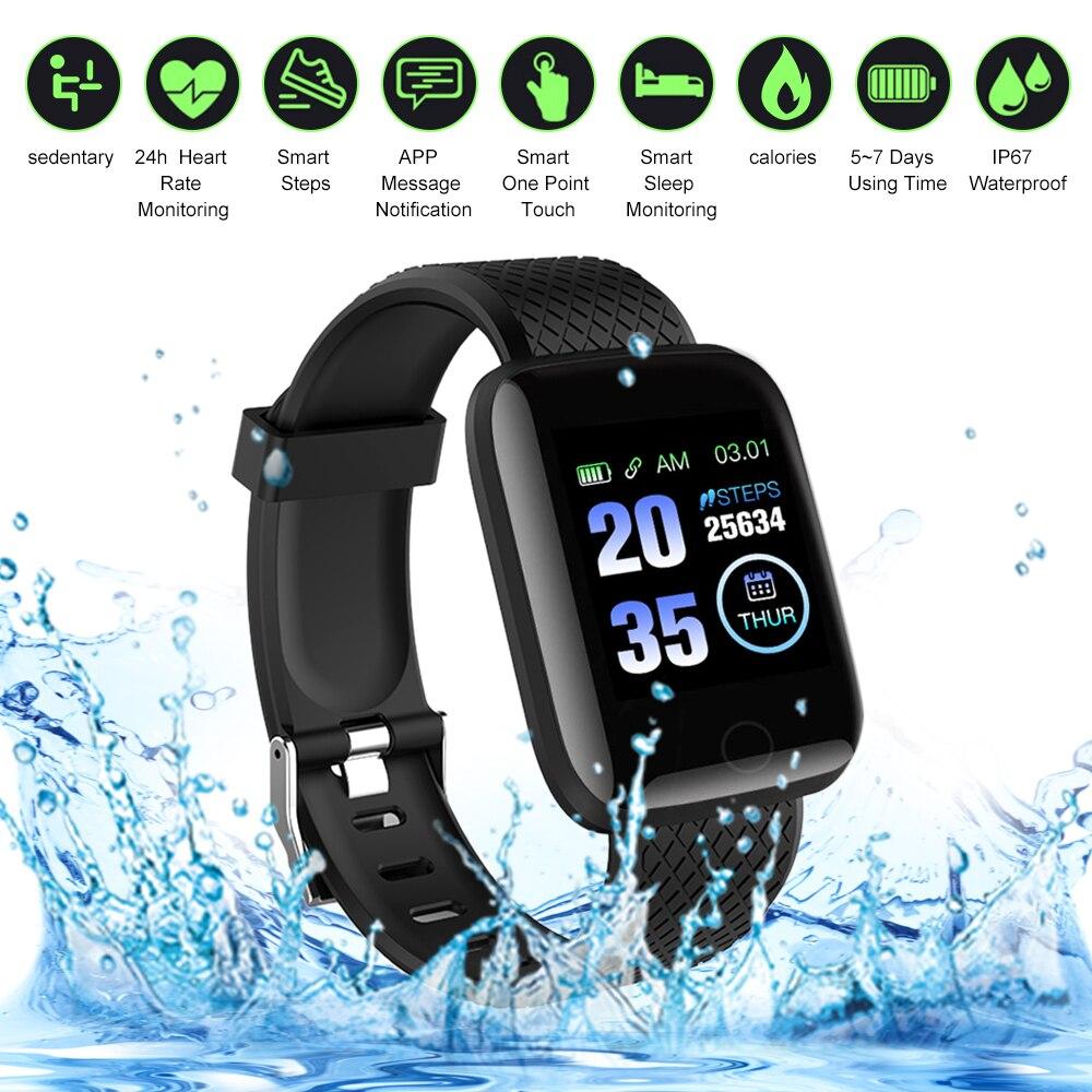 Смарт-браслет 116Plus, умные часы, фитнес-трекер, шагомер, монитор сердечного ритма, спортивные Смарт-часы, смарт-браслет