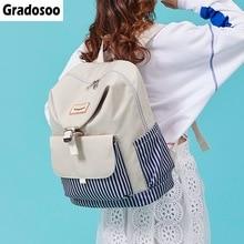Gradosoo Fashion Backpack Women Schoolbag Female School Bags For Teenage Girl New Travel Large Capacity LBF601