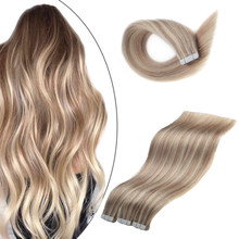 Tape Hair Unprocessed European Balayage Double Sided Human Tape in Hair Extension