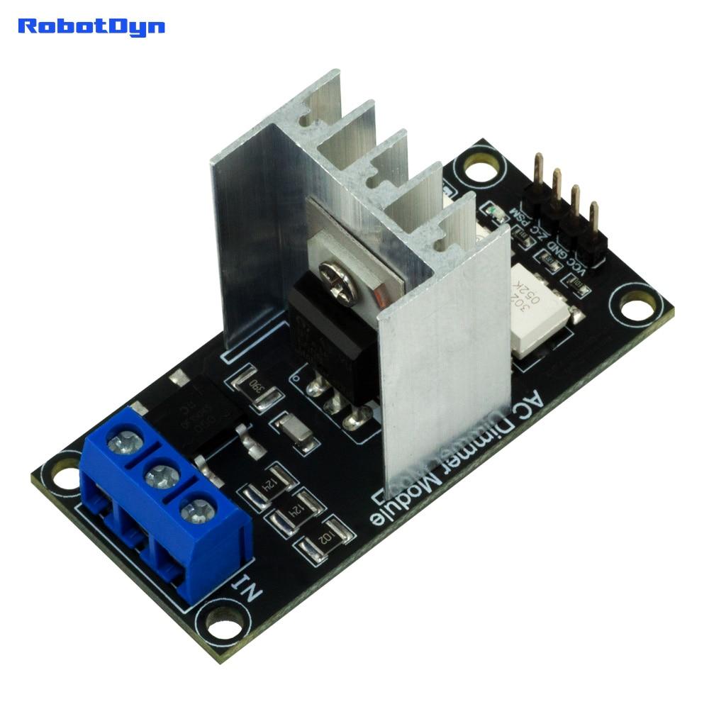 AC Light lamp dimming and motor Dimmer Module, 1 Channel, 3.3V/5V logic, AC 50/60hz, 220V/110V - 600V