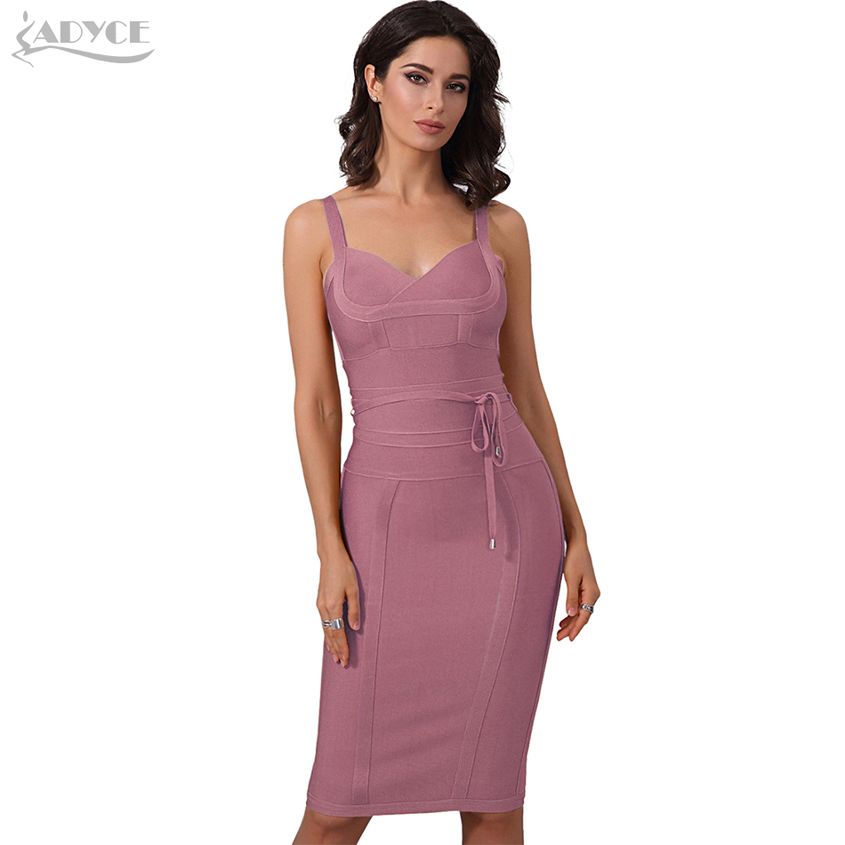 Adyce Clothing Women Summer Bandage Dress 2020 Sexy Celebrity Party Dress Nightclub Spaghetti Strap Bodycon Club Dress Vestidos