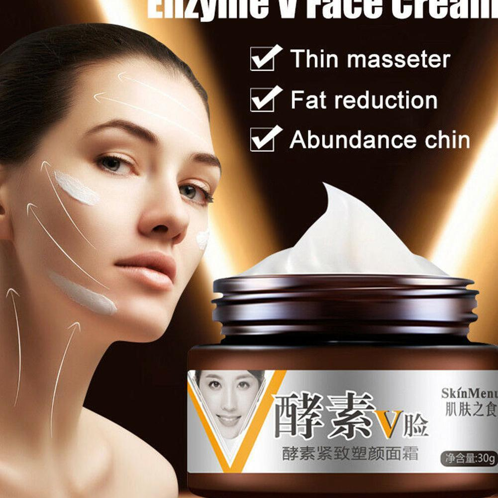 30g V-shape Face Slimming Cream Line Lift Firming Collagen Enzyme Moisturizing Face Cream Skin Care