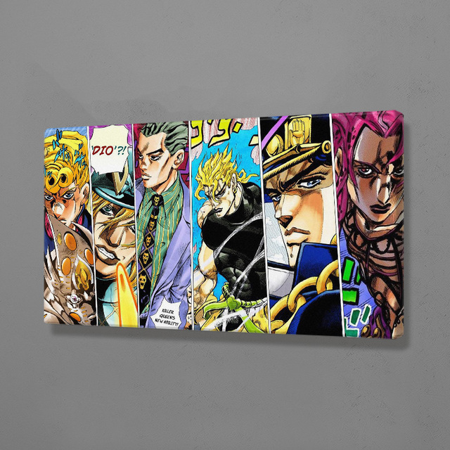 Wall Art Canvas Painting JoJo S Bizarre Adventure Poster Modular Anime Character Print Picture For Living Room Home Decoration
