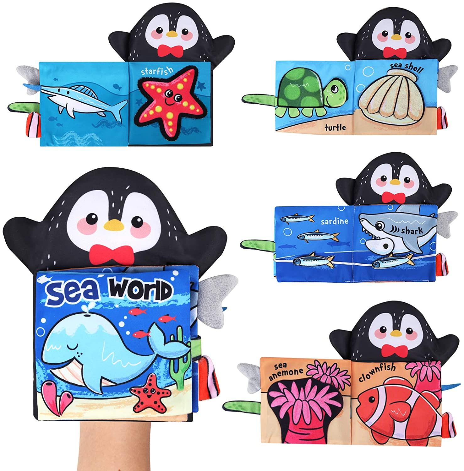 Baby Soft Cloth Book for Newborns 0 12 Months 3D Quiet Books Montessori Hand Puppet Educational Toy for 1 Year Old Boy Kids Gift 4