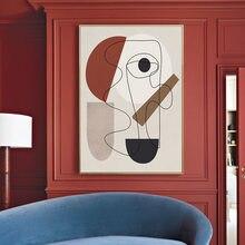 İskandinav Picasso ünlü soyut tuval boyama hat sanatı posterler baskılar Minimalist duvar sanatı resimleri oturma odası ev dekorasyon