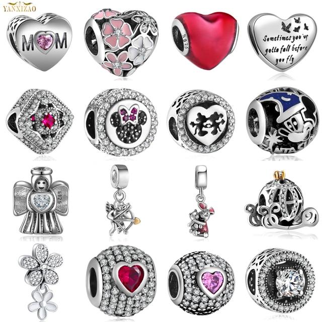 Diy ювелирные изделия для женщин Pulsera Fit Pandora Подвески Серебро 925 Оригинал Regalos Bisuteria Kralen Voor Sieraden