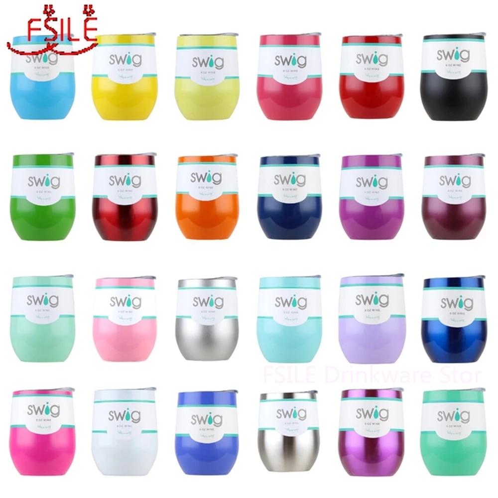 9OZ Egg Shaped cup Swig Wine Cups Swig Cup Insulated Thermos Coffee Mug Vacuum Thermos Cup Travel Mug Swig Tumber  Wine beer Mug