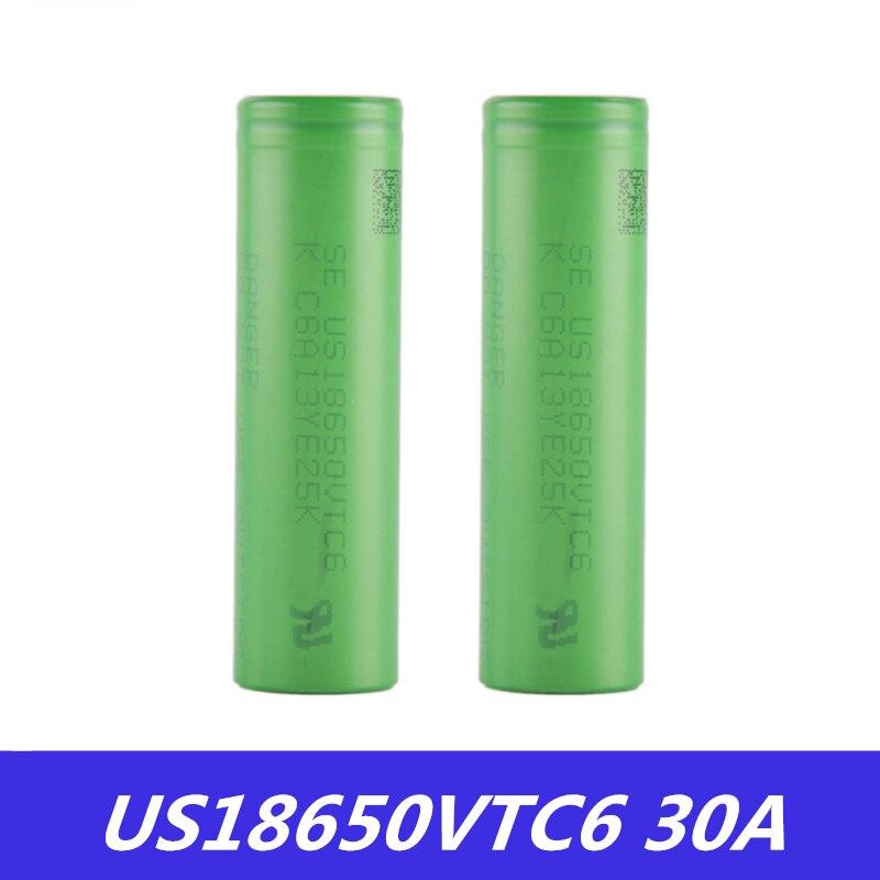 18650 аккумулятор VTC6 3,7 V 3000mAh литий-ионный аккумулятор 18650 US18650VTC6 30A для электронной сигареты коробка мод Игрушки Инструменты Flashligh