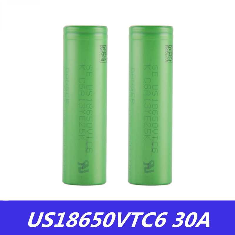 18650 Battery VTC6 3.7V 3000mAh Rechargeable Li-ion Battery 18650 US18650VTC6 30A For E-Cigarette Box Mod Toys Tools Flashligh