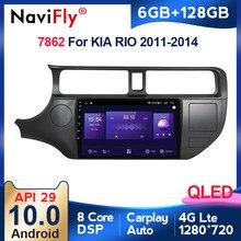 6G + 128G ekran QLED Android 10 Radio samochodowe dla KIA K3 RIO 2011 2012 2013 2014 2015 multimedialny odtwarzacz wideo GPS Navigaion Carplay