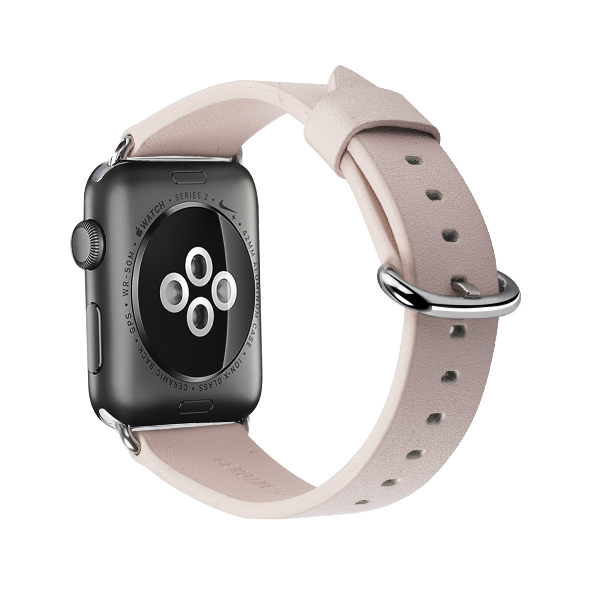 Cross Border Applicable APPLE Watch Genuine Leather Watch Band Men And Women-Cowhide Wrist Strap Iwatch3 Watch Strap Soft Thin