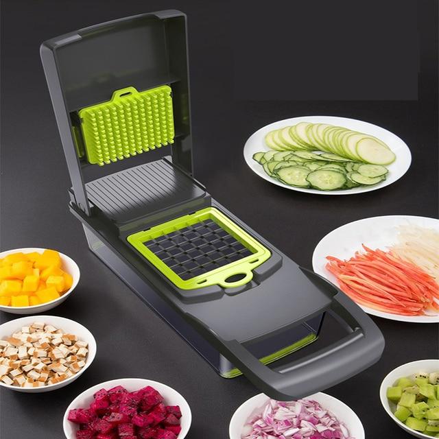 Mandoline Vegetable Fruit Slicer Grater Cutter Peeler Multifunctional Potato Peeler Carrot Grater Drain Basket Kitchen Tool 2