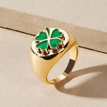 Модные картины маслом четырехлистный клевер золотые кольца растение