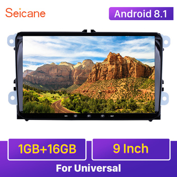 Seicane 1+16GB Navi 9 Android 10.0 Car Radio GPS Headunit Player for VW Volkswagen SEAT LEON CUPRA Skoda Passat b5 b6 CC Polo image