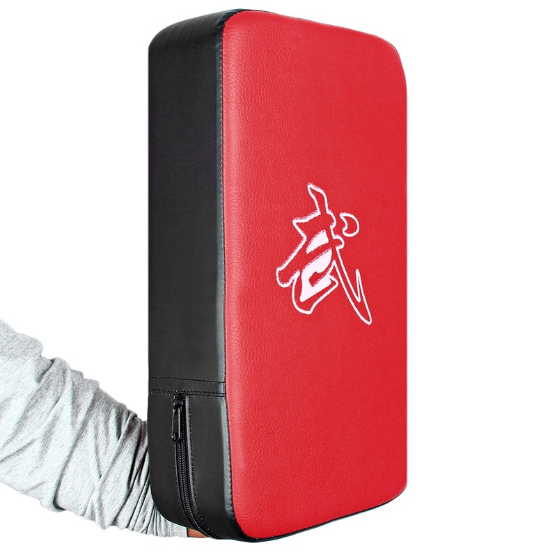 1 Pcs Punching Bag Boxing Pad Sand Bag Fitness Taekwondo MMA Hand Kicking Pad PU Leather Training Gear Muay Thai Foot Target S