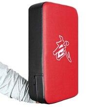 купить 1 pcs Punching Bag Boxing Pad Sand Bag Fitness Taekwondo MMA Hand Kicking Pad PU Leather Training Gear Muay Thai Foot Target S дешево