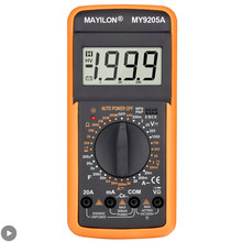 Profissional multímetro digital tester medidor de teste elétrico voltímetro com buzzer resistência capacitância ac dc lcd my9205a