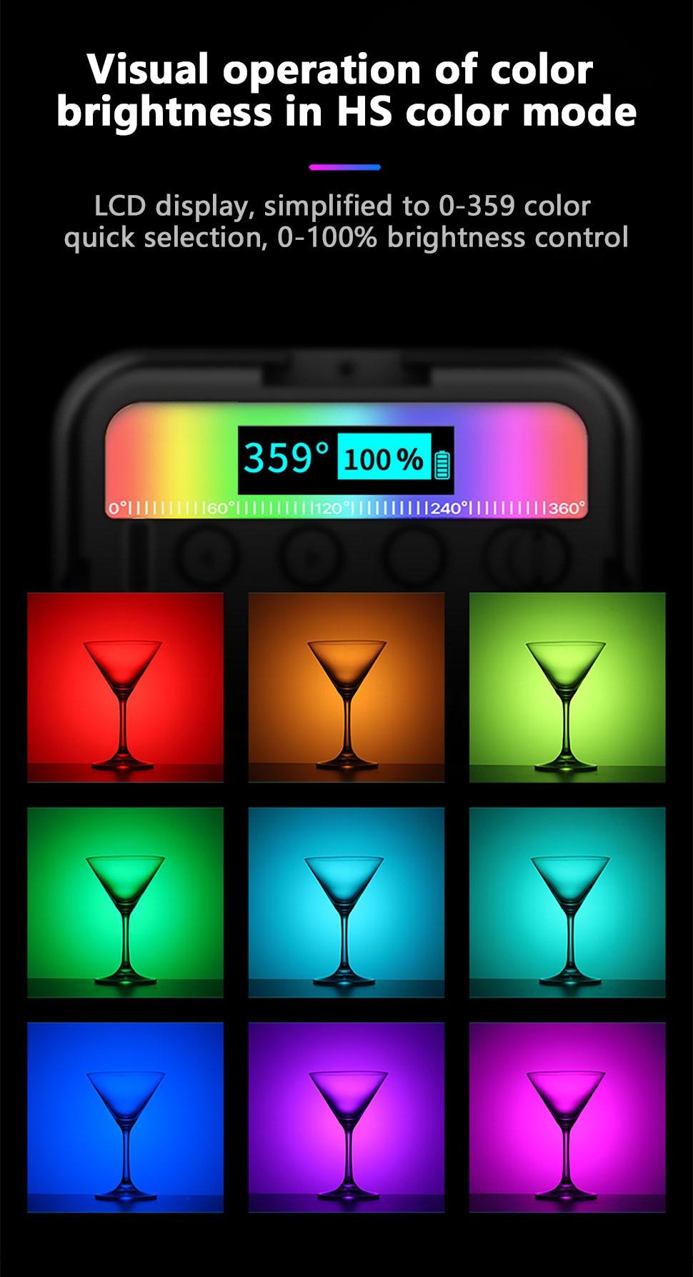 Orsda ulanzi vl49 mini iluminação de luz
