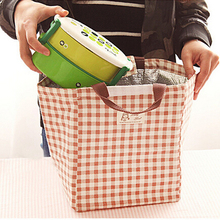 Picnic Bag Cooler Lunch-Bag Carry-Storage Bento Pouch Handbag Canvas Printed Insulated