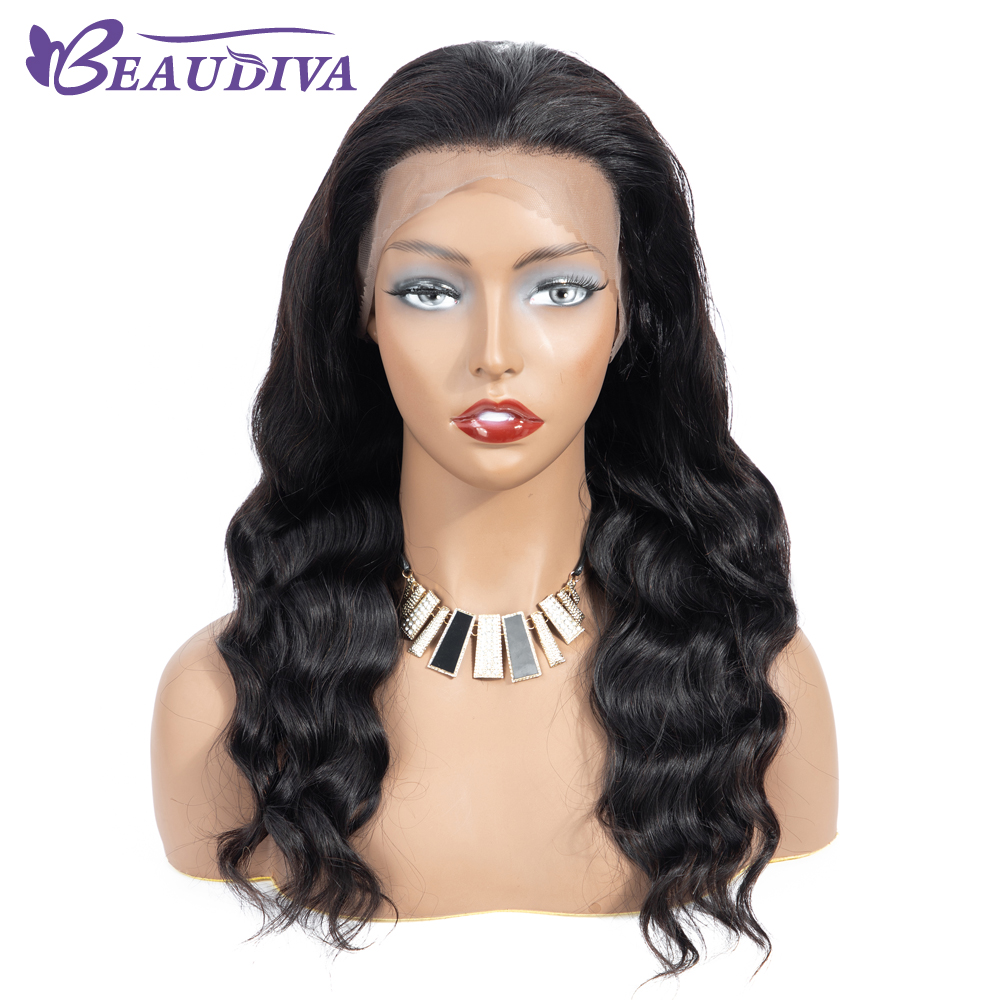Brazilian Body Wave Lace Frontal Human Hair Wigs 13*4 Lace Frontal Wig Natural Hairline With Baby Hair Bleached Knots 10 24inch-in Lace Front Wigs from Hair Extensions & Wigs    1