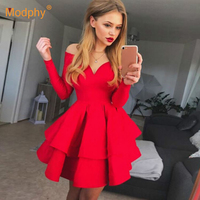 2019 Summer New Fashion Women's Dress Sexy Red White Black Strapless Bodycon Mini Dress Celebrity Evening Party Dress Vestidos