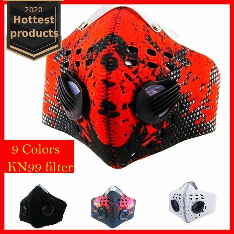 Cycling Men/Women Activated Carbon Dust Airsoft Tactical Face Mask Anti-Pollution Bicycle Bike Outdoor Training mask Face Shield 2