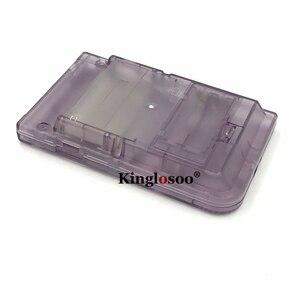 Image 5 - זוהר מלא סט שיכון מעטפת כיסוי מקרה w/גומי pad עבור gameboy כיס GBP כפתורי צדף