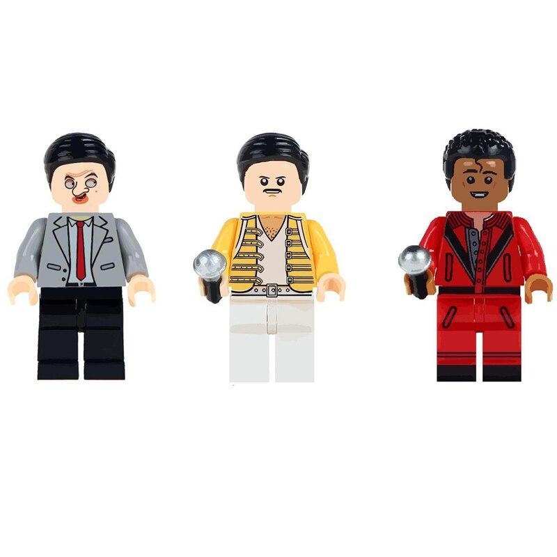 Single Mr. Bean Freddie Mercury Singer Basketball Stephen Curry Building Blocks Bricks Toys For Children