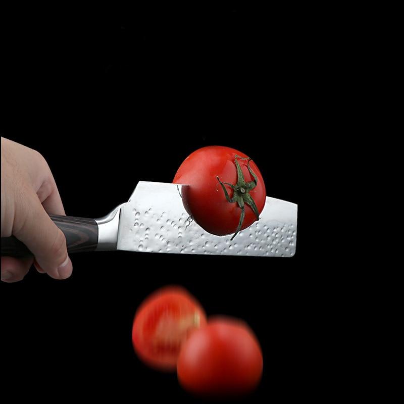 Kitchen knife forging hammer 7cr17 kitchen knife 8 inch chef knife slicing knife kitchen knife color wood handle