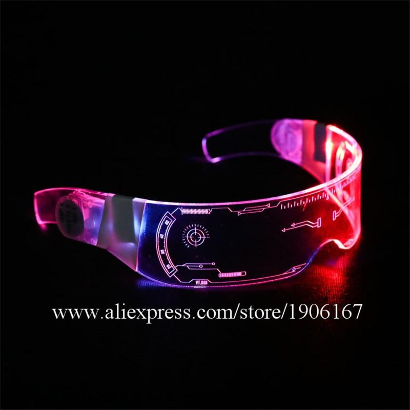 Led Colorful Luminous Glasses Nightclub Bar Ktv Judy Concert Music Festival Glasses Birthday Gift Luminous Party DJ DS Glasses