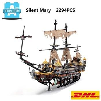 En Stock 16042 pirata Shipes Mary silenciosa bloques de construcción 71042 regalo de ensamblaje