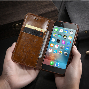 Image 4 - KISSCASE Retro Leather Case For iPhone X 6s 7 Plus 5s Stand TPU Cover Flip Cases For iPhone 5S SE 7 7 Plus 6s XS Max XR XS 8Plus