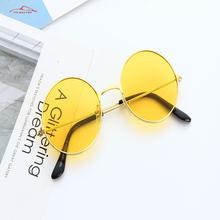 Vintage Classic metalowe okrągłe okulary przeciwsłoneczne damskie małe nowe książę Retro marka czerwone pomarańczowe różowe jasne okulary damskie odcienie UV400 tanie tanio CDH JUMP