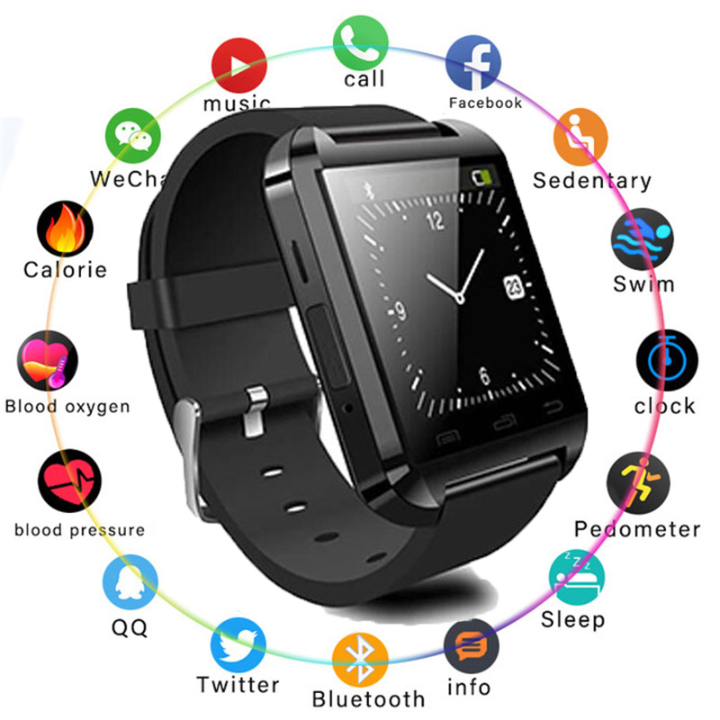 Smart Wrist Watch Phone Mate Bluetooth 4.0 for Android  IP68 Waterproof Fitness Tracker for Xiaomi Phone MI8 IOS  Men GPS