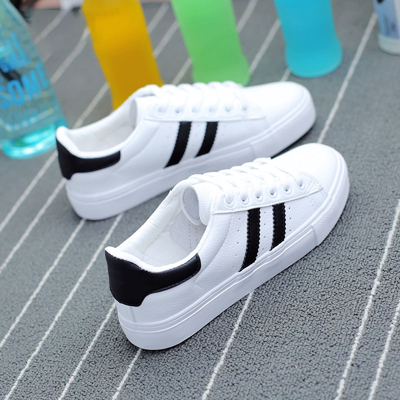 Female Summer Lace-up Trainers Fashion Round Toe Shoes Women Vulcanize Shoes White Sneakers Zapatillas Mujer Tenis Feminino