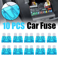 цены 10pcs/set 15A Car Fuse Blue Automobile Safety Pipe Xenon Lamp 32V Fuse Safety Pipe Fuse