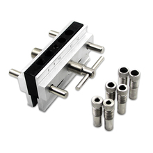 Doweling Jig Self Centering Round Woodworking Tools Precise Drilling Wood Working Tools Aluminum Alloy Dowel Drill Clamp 1set aluminum alloy dowelling jig metric dowel drilling wood drill kit 6 8 10mm self centering for 17 60mm wood board