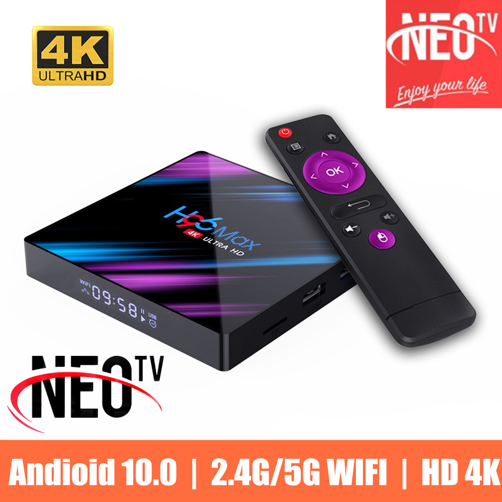 NEO TV PRO H96 MAX Smart TV Box Android 4GB 32GB 64GB IP 4K Youtube Media player TVBOX Android TV Set top box 2GB16GB NEOTV NEOX