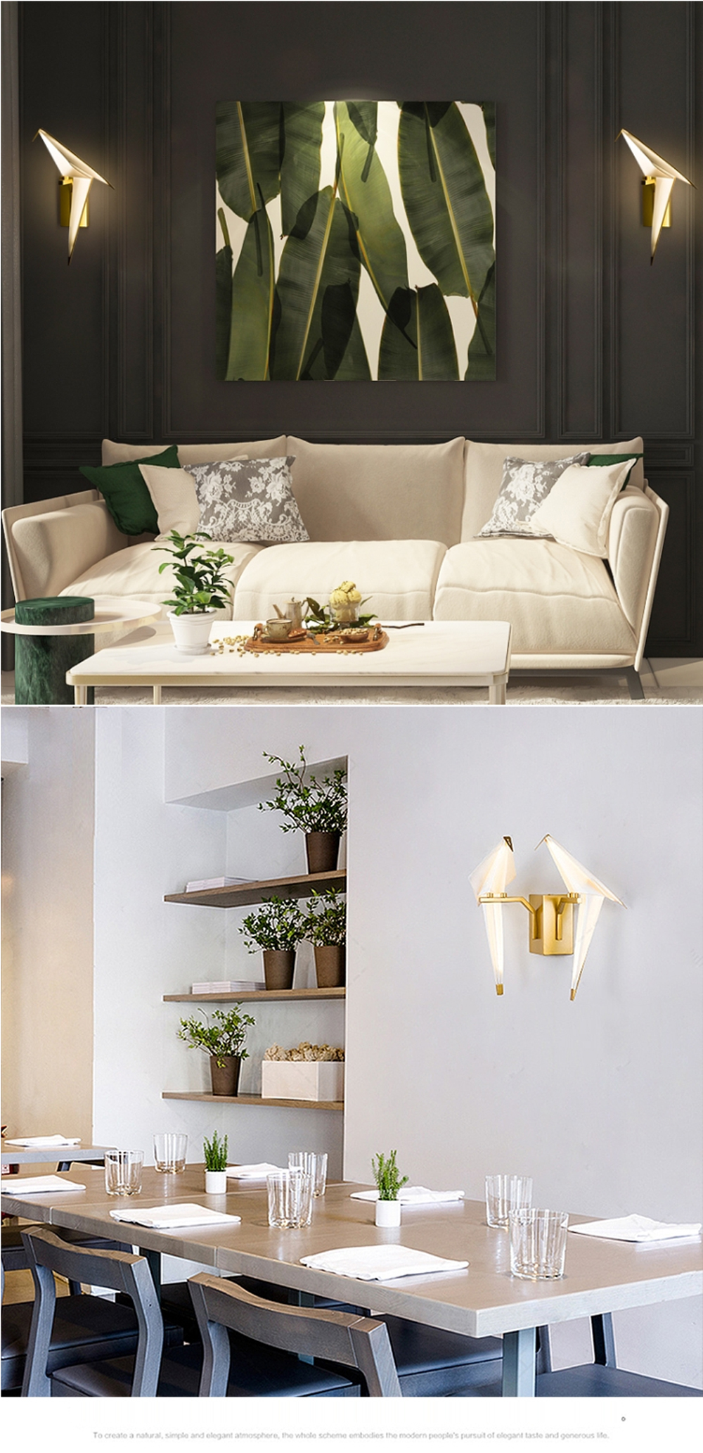 Hc59dc24f6a53495cbe4b9b8cdf5df662M - LED Postmodern Iron Acryl Love Bird LED Lamp LED Light Wall lamp Wall Light Wall Sconce For Bedroom Corridor