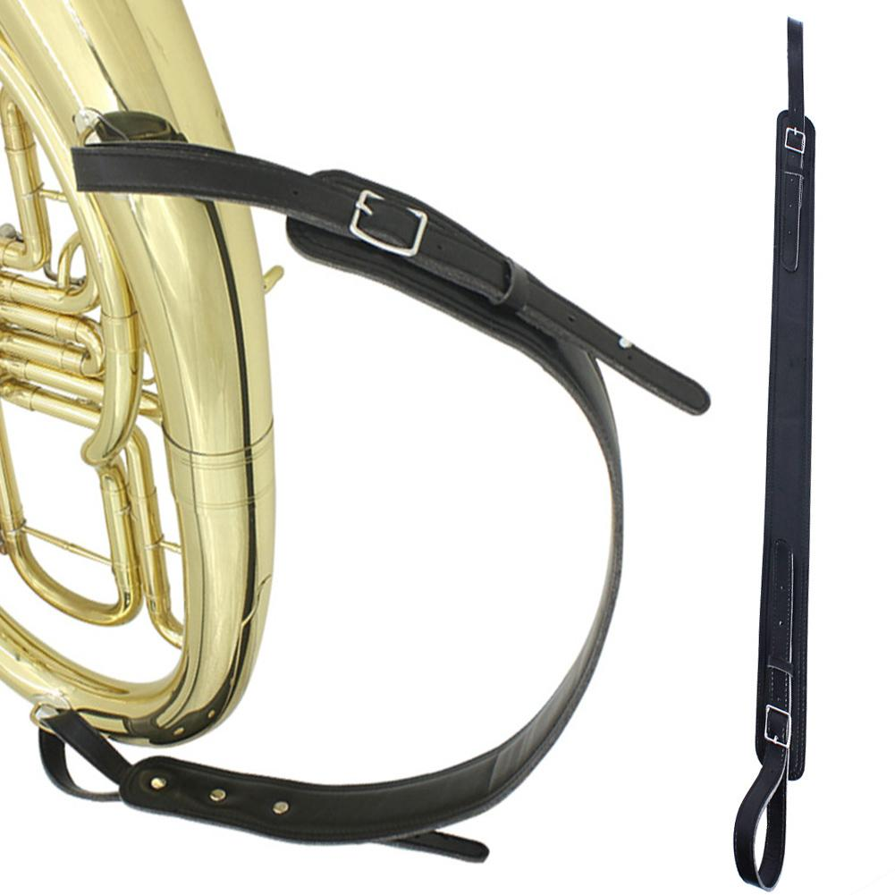 Adjustable Soft High Quality Faux Leather Single Harness Shoulder Neck Strap Belt For Tenor Baritone Sax Saxophone Tuba