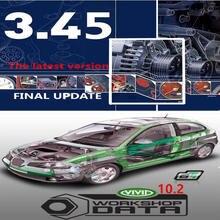 Venda quente mais recente versão do automóvel -- dados 3.45 versão vívida oficina v10.2 para o software de reparo europa de banco de dados automotivo