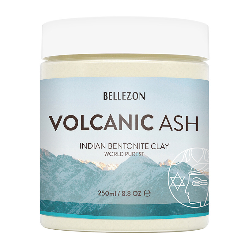 250ml Volcanic Ash Indian Bentonite Clay Facial Mask Skin Care Deep Blackhead Remover Pore Cleaner World Purest Face & Body Mask image