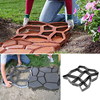 Black Plastic Making DIY Paving Mould Home Garden Floor Road Concrete Stepping Driveway Stone Garden Path Mold Patio flash sale