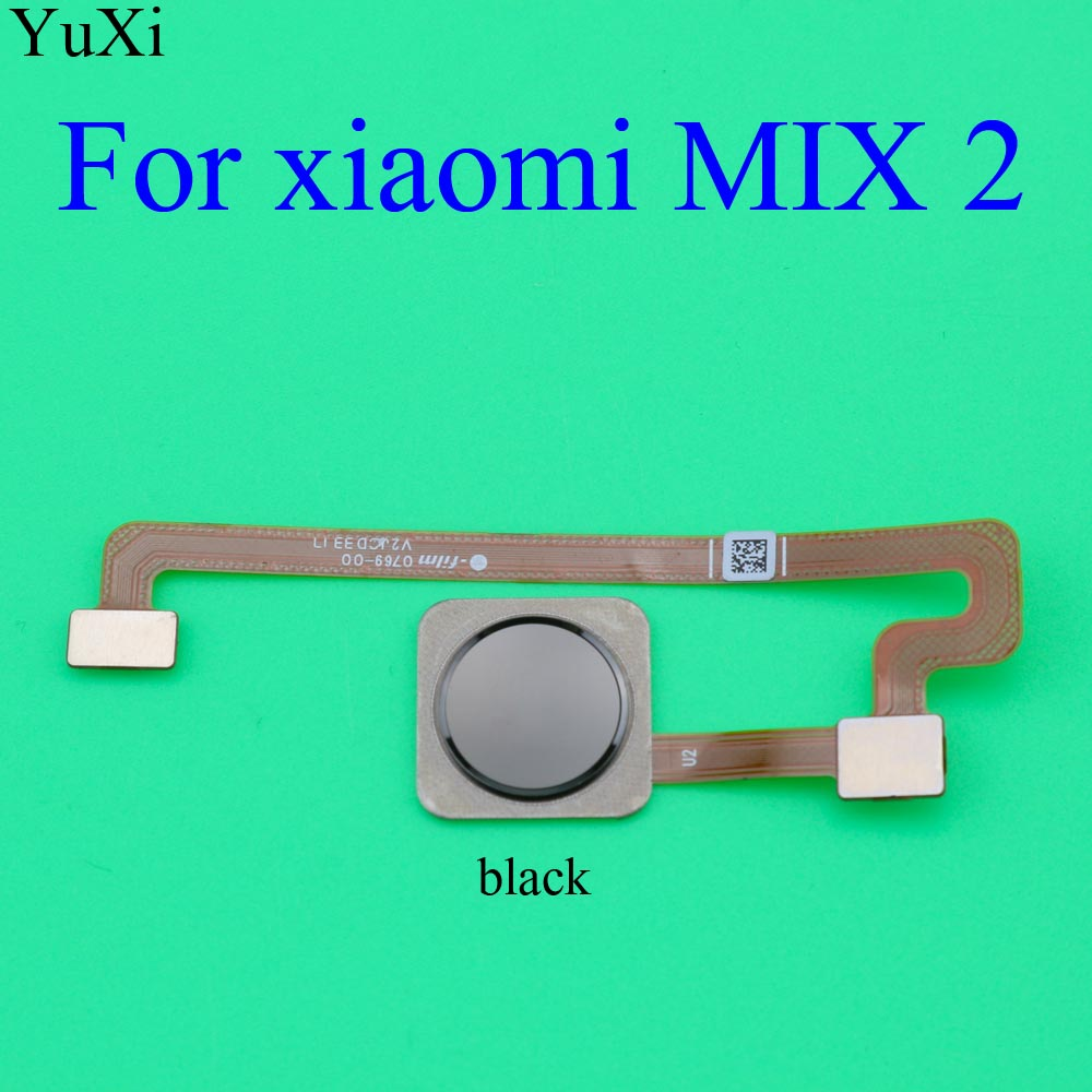 YuXi Fingerprint Scanner Touch Sensor ID Home Button Return Keypad Flex Cable For Xiaomi Mix 2 Mi Mix2