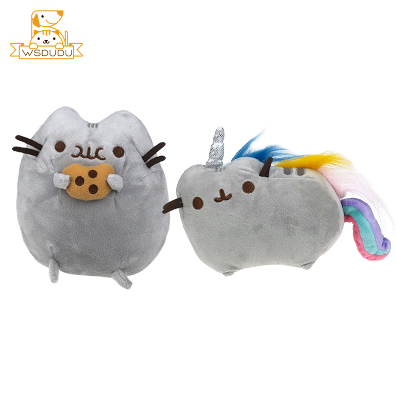 Kawaii Chubby Cats Cute Cartoon Fat Animal Kitten Plush Stuffed Toys Pillow Sticker Cookie Rainbow Soft Dolls For Children Gifts