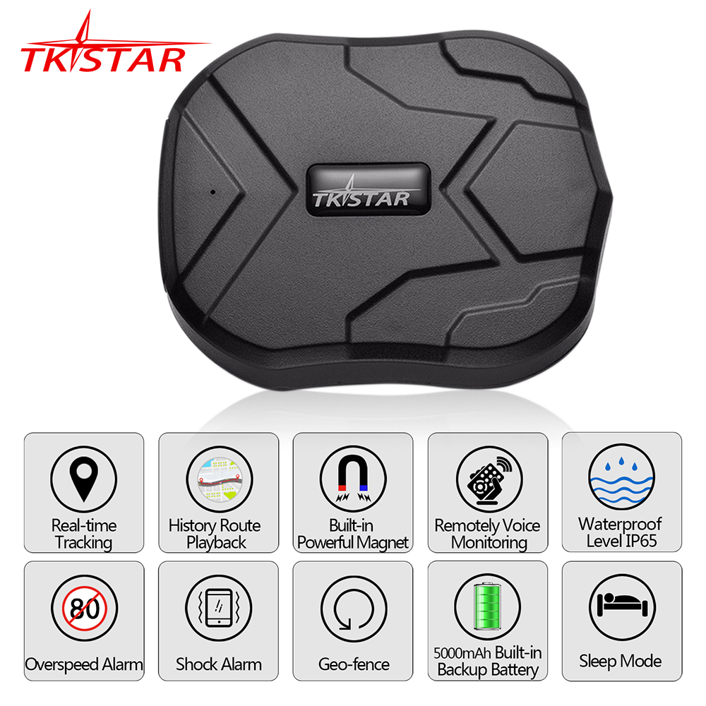 GPS Locator Vehicle-Tracker Magnet-Voice-Monitor Tkstar Tk905 Free-Web-App Waterproof title=