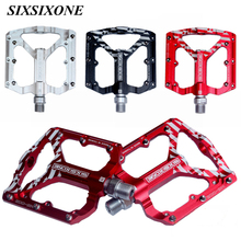 цены SIXSIXONE Utral Sealed Bicycle Pedals CNC Aluminum Body For MTB Road Cycling 3 Bearing Bicycle Pedal
