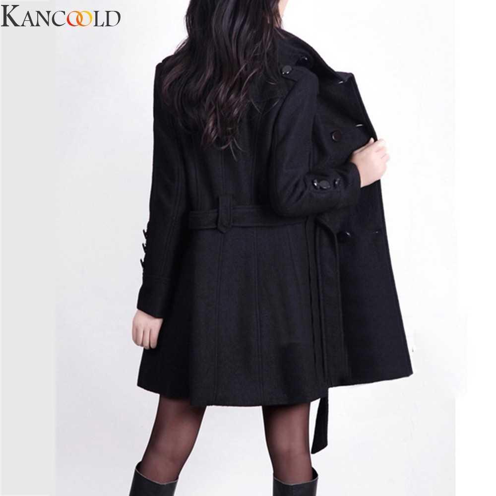 KANCOOLD Vrouwen Blazer Business kantoor Jas Gouden Gesp Riem Zwarte Mode Dames Jas Jas Uitloper Hoge Kwaliteit Mode